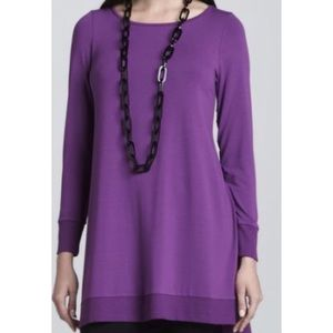 EILEEN FISHER Jersey layering tunic top XL